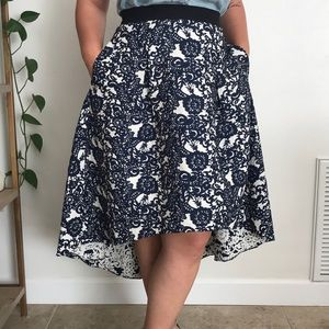 Anthropologie high low brocade skirt